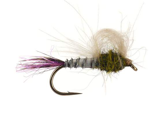 Olive Straight Loopwing Emerger - Dark Olive