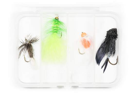 Set STREAMER CLASSIC V6 - 4 Fliegen mit Box
