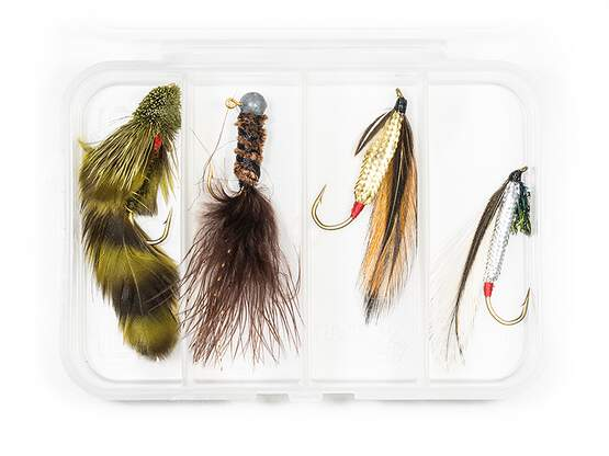 Set STREAMER CLASSIC V8 - 4 Fliegen mit Box