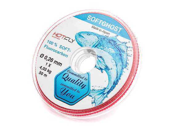 Soft Fluorocarbon Vorfachmaterial SOFTGHOST - 50 m